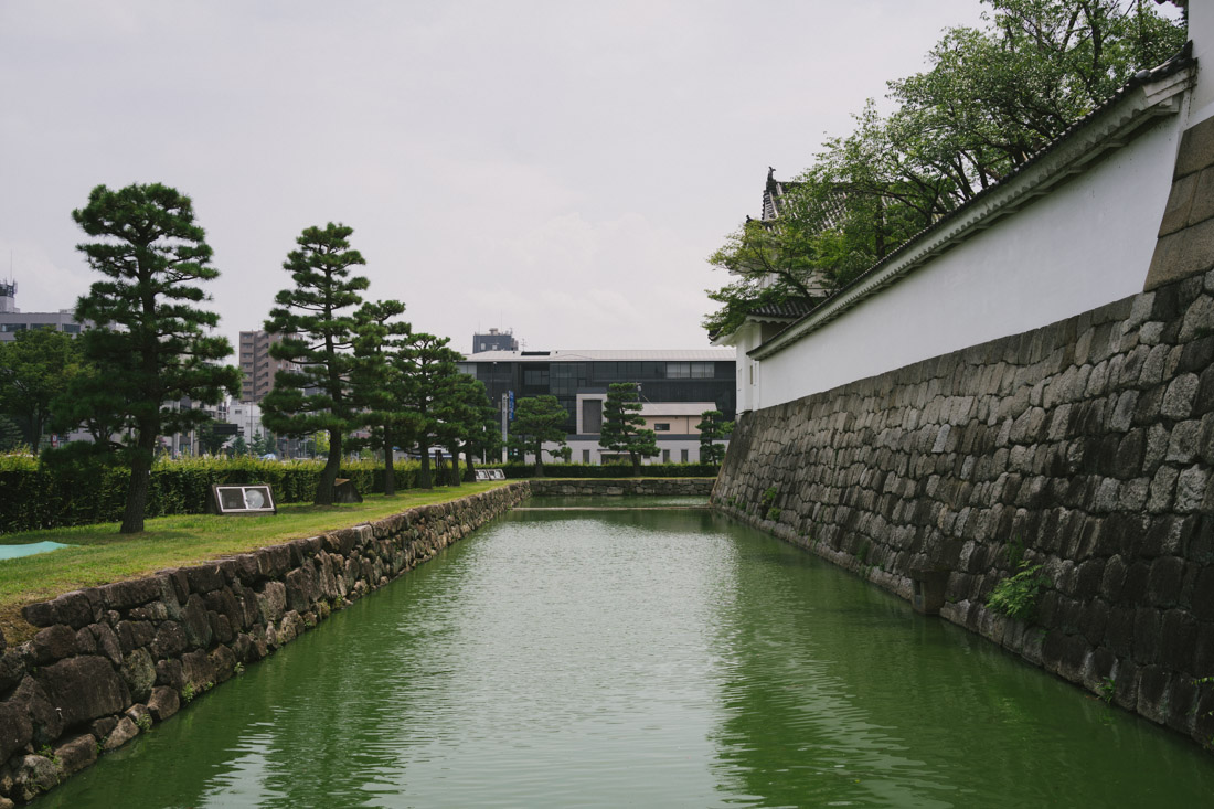 Finally at Nijo Castle. Even the moat is gorgeous.