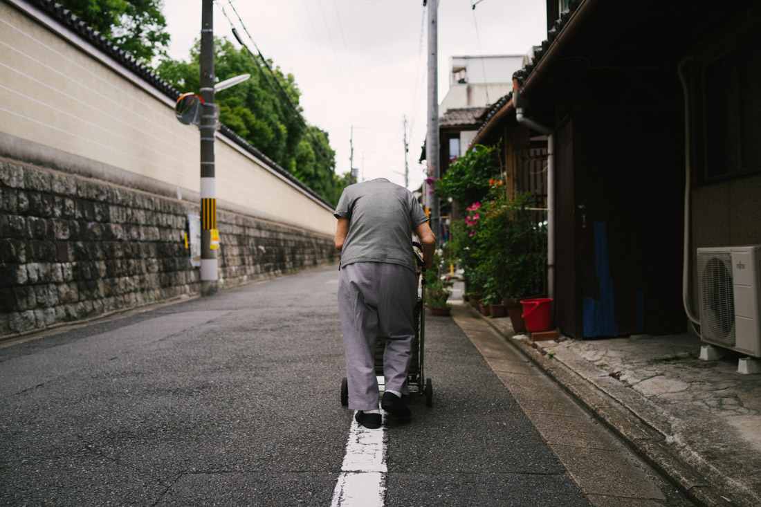 People in Japan seem to grow older in a slower way than we westerns do. This old lady was easily way in her 90s.