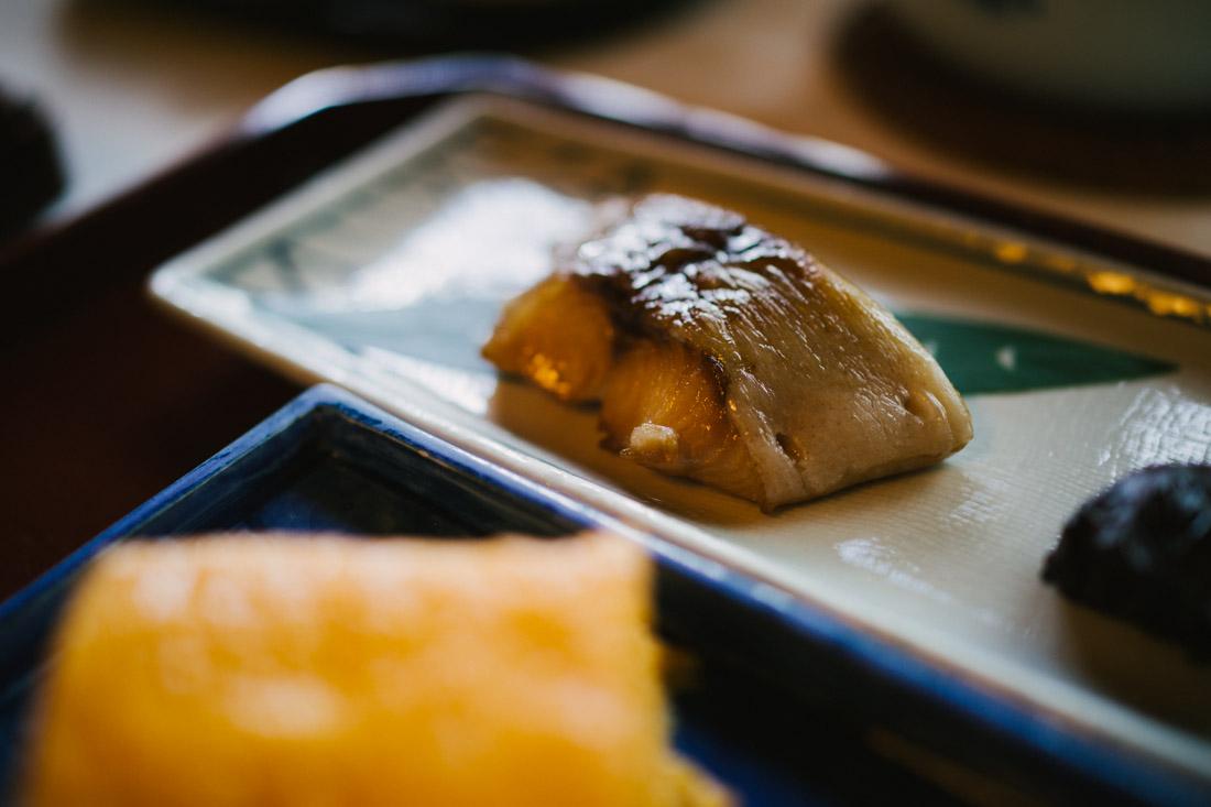 Grilled halibut.