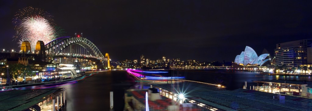 Sydney Harbour, Vivid Festival      Buy Now