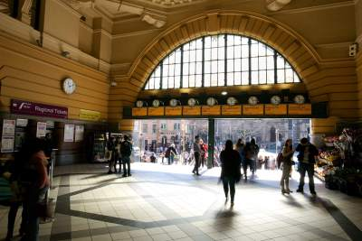 'Under the clocks', Flinders St Station, Melbourne      Buy Now