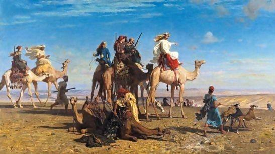 La-Chasse-A-La-Gazelle-Dans-Le-Desert-Egyptien,-Sinai_Leon_Belly
