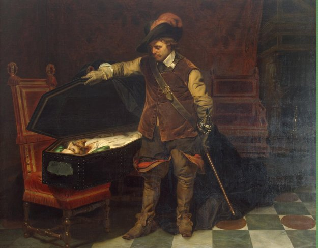Delaroche_Hippolyte_(Paul) -Cromwell_before_the_Coffin_of_Charles