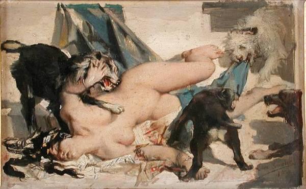 LEON-COMERRE-Jezabel-devoree-par-les-chiens