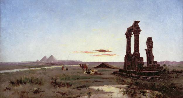 a-bedouin-encampment-by-a-ruined-temple-alexandre-gabriel-decamps