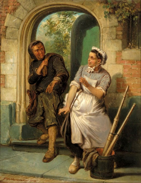 Pieter_Alardus_Haaxman_Chimney_sweeper_and_the_maid_1876