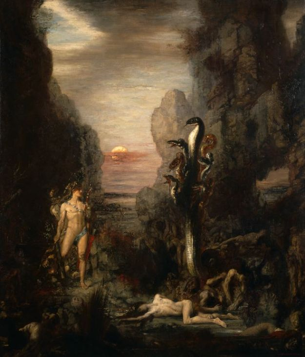 Gustave Moreau Hercules and the Lernaean Hydra 1875-6