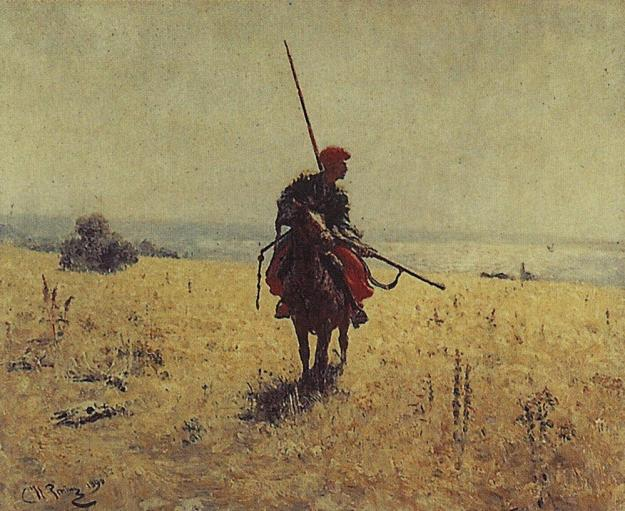 cossack-in-the-steppe_repin