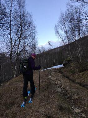 Litt dårlig skiføre til tider nederst