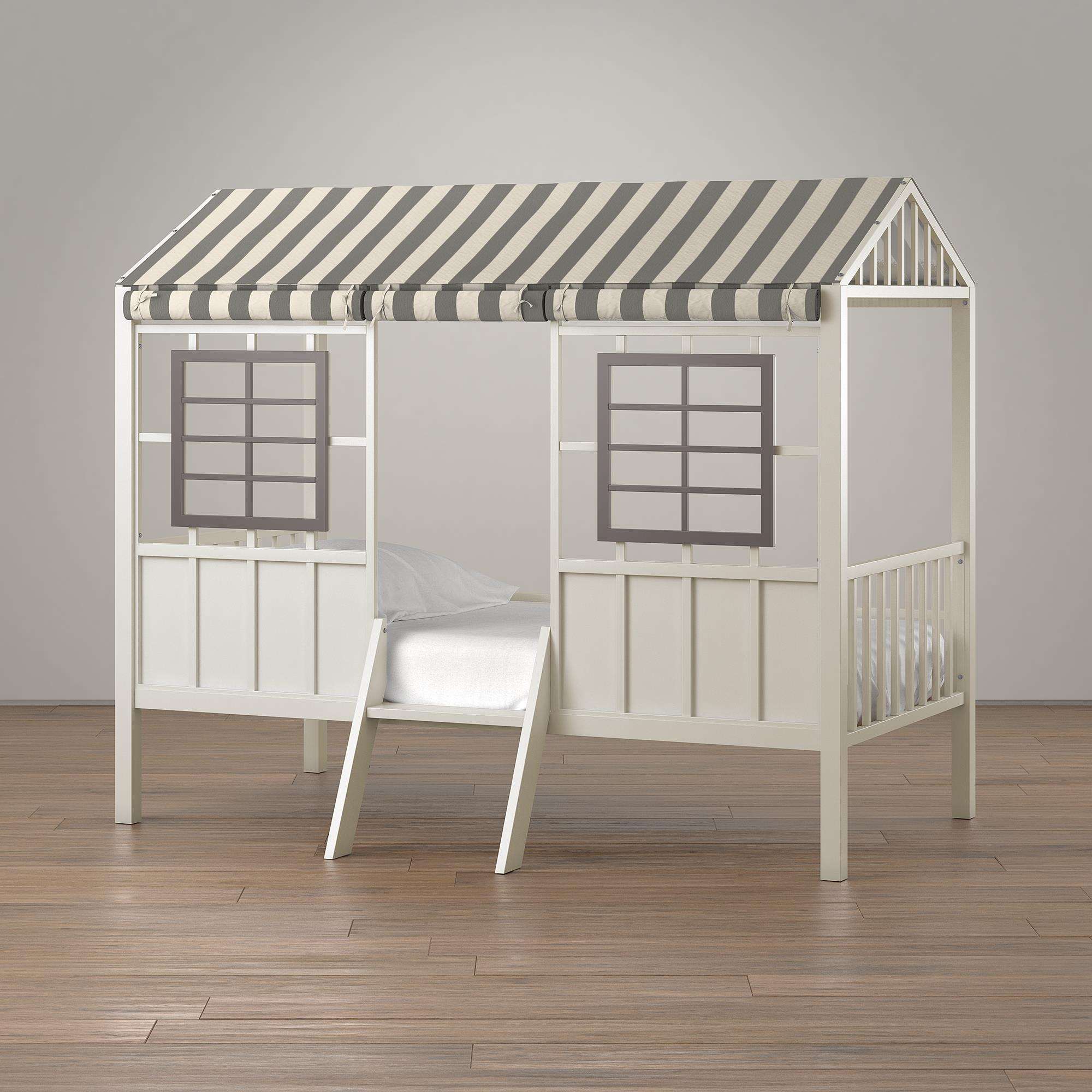 Rowan Valley Forest Kids Twin Loft Bed Grey Taupe Little Seeds