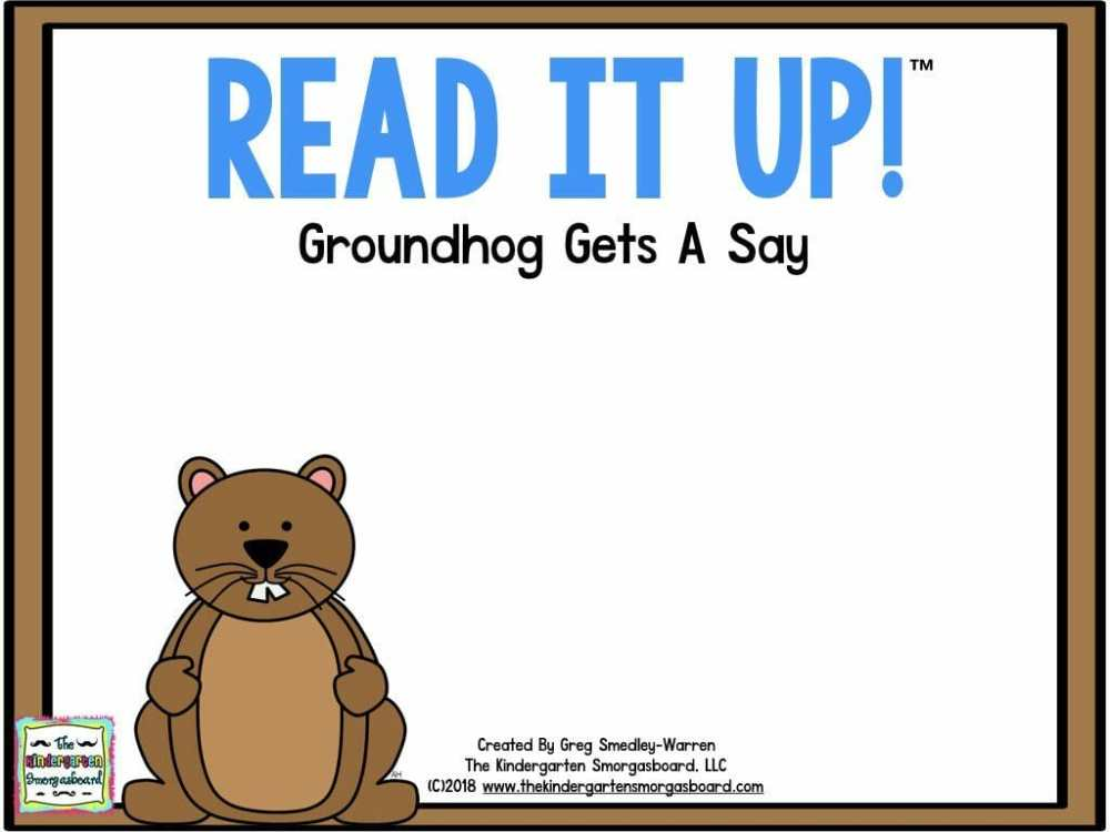 medium resolution of Groundhog Day – The Kindergarten Smorgasboard