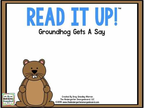 small resolution of Groundhog Day – The Kindergarten Smorgasboard