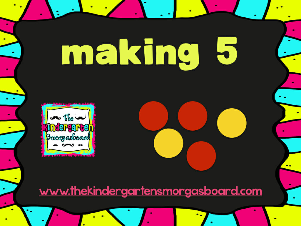 Decomposing Numbers And Making 5 The Kindergarten
