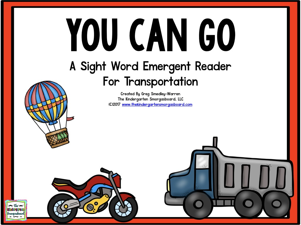 You Can Go Transportation Emergent Reader 001 The