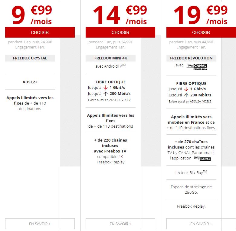 freebox en promo dès 9€99