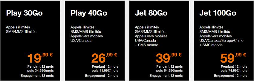 forfaits orange mobile en promotion