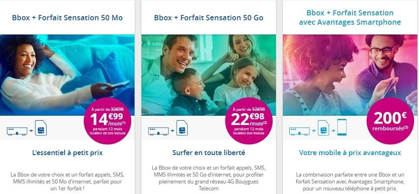 forfaits sensation + offres bbox