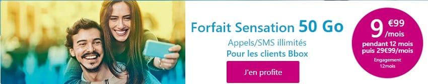 forfait sensation 50go promo à 9.99 euros