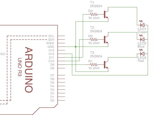 small resolution of arduino 4 pin 5mm full color led