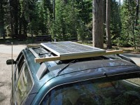 Mounting solar panels on roof rack (for easy removal ...