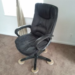 Office Chair On Carpet Desk Chairs Without Wheels Furniture Glides For Roselawnlutheran
