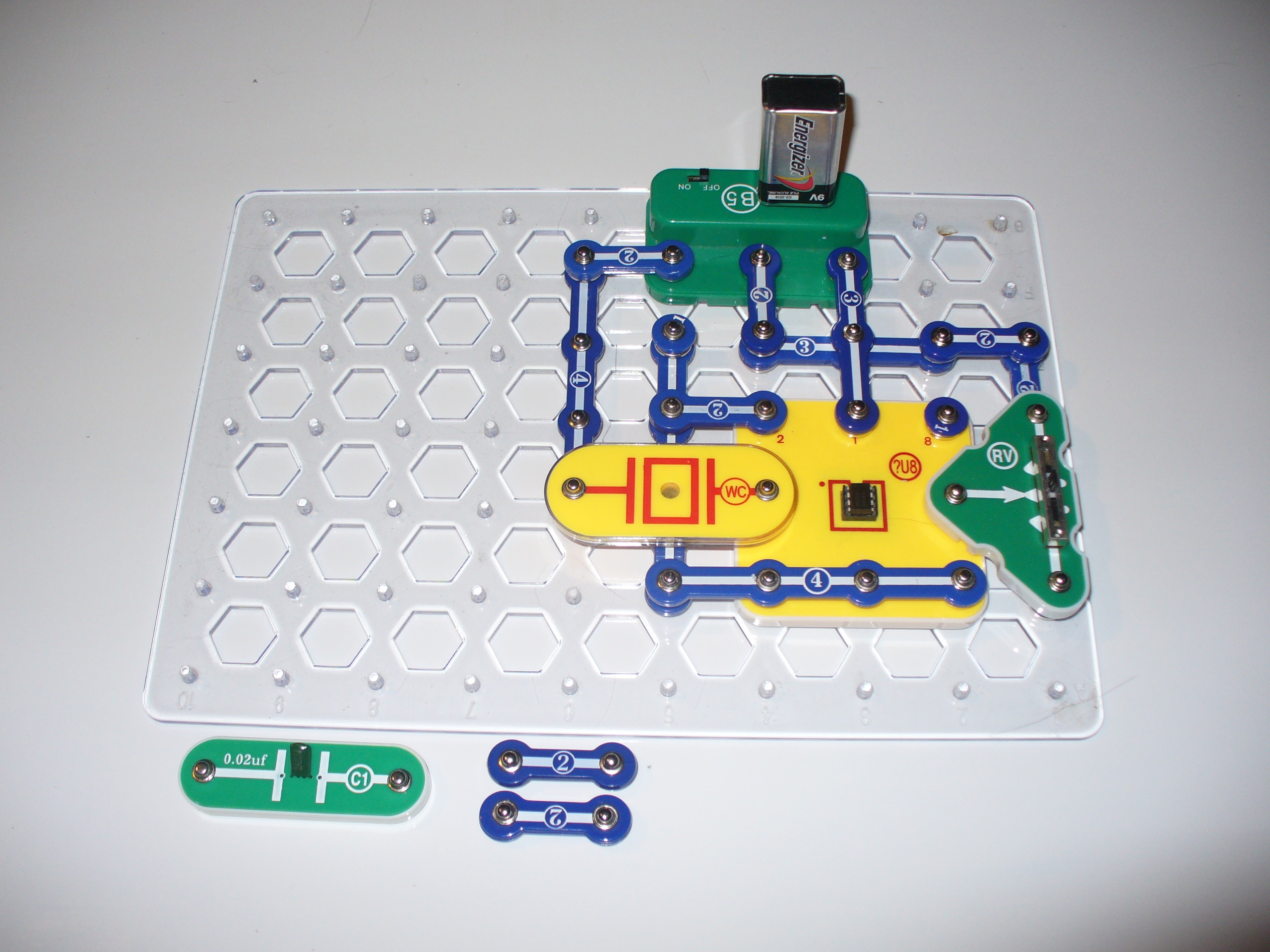 Add The Snap Circuits Blocks To The Base Grid As Demonstrated In The