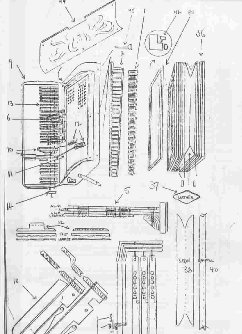 Parts Diagram from ABC Accordion (repair) Manual
