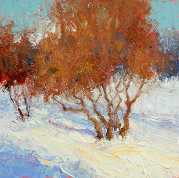 Small Vibrant Palette Knife Paintings Of Art - Outdoorpainter