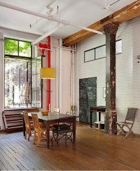 A Rustic Loft with Character in Tribeca
