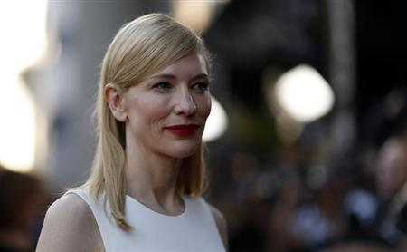 "Cate Blanchett poses at the premiere of ""Blue Jasmine"" at the Academy of Motion Pictures Arts and Sciences in Beverly Hills"