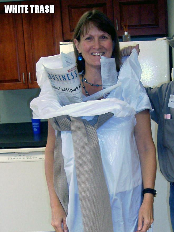 White trash costume.