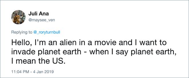 Aliens in movies.