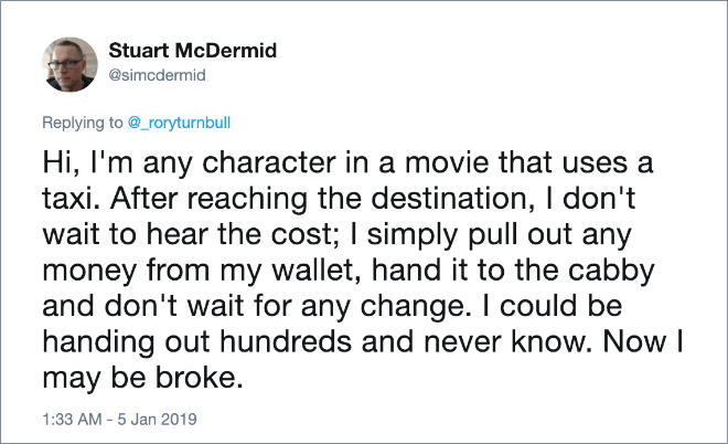 Only in movies.