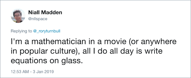 Mathematician in movies.