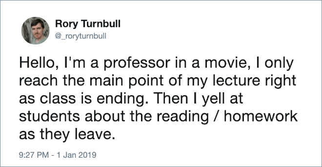 Professor in movies.