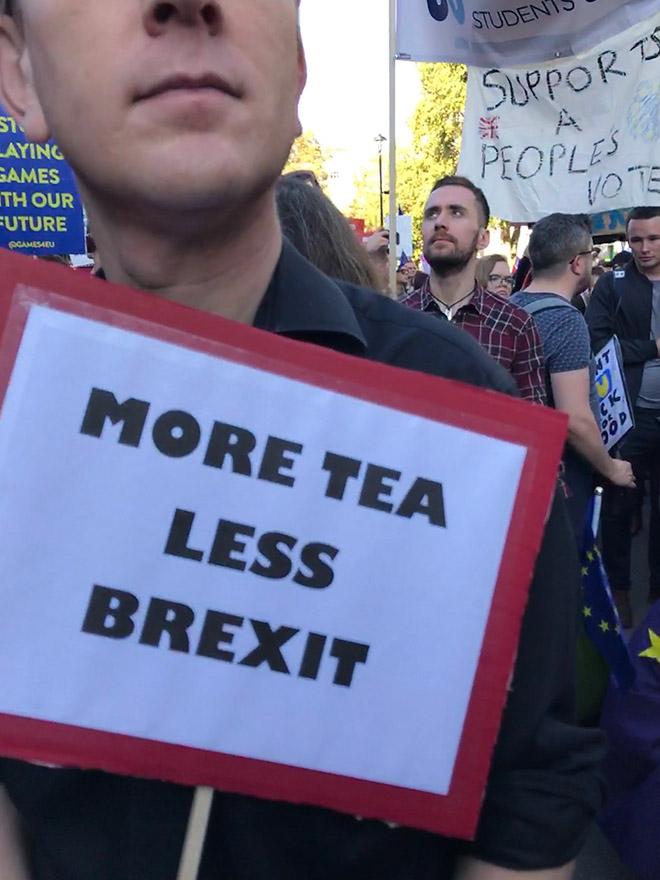 More tea, less Brexit.