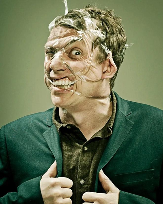 When scotch tape meets face...