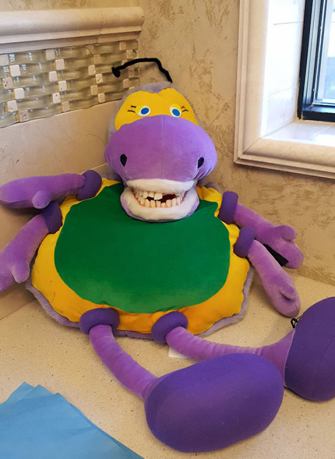 Horrifying educational dentist toy for kids.