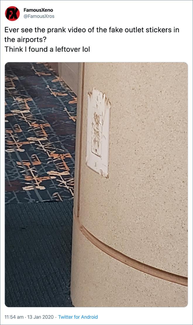 Evil airport prank.