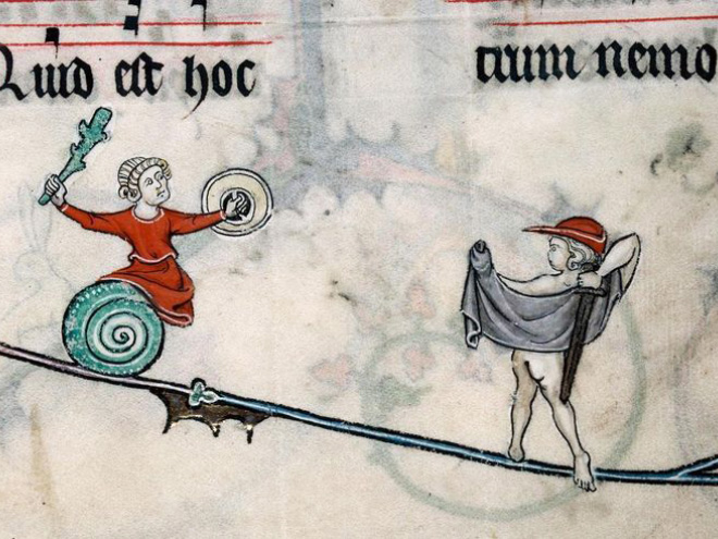 Knights really loved fighting snails in medieval books.