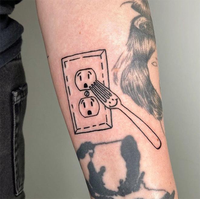 Funny tattoo idea.