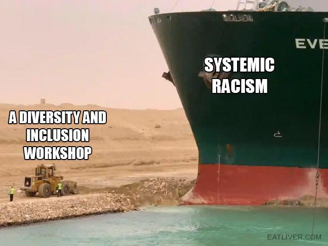 Suez Canal fail meme.