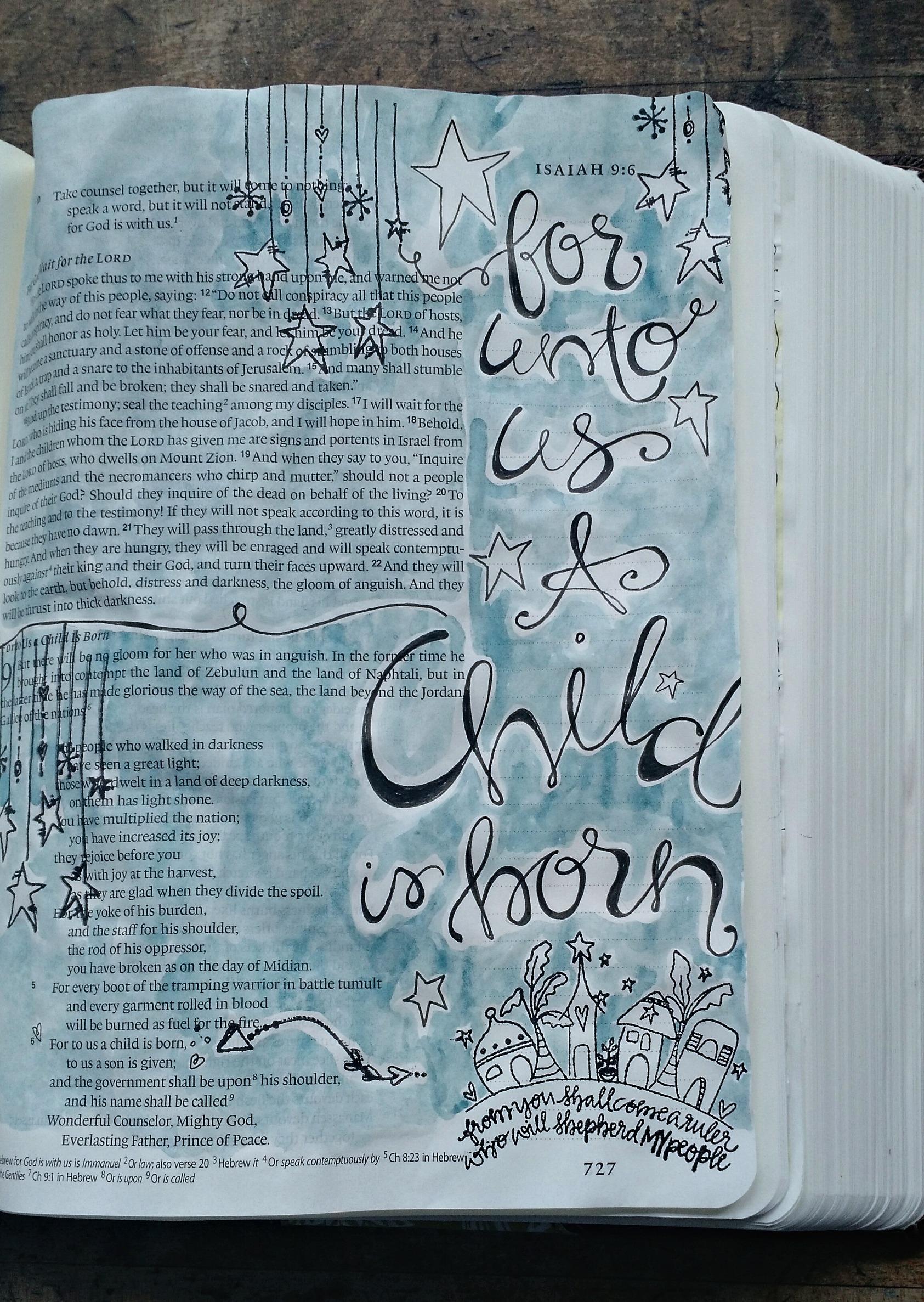 Take A Peek Bible Art Journaling Pages