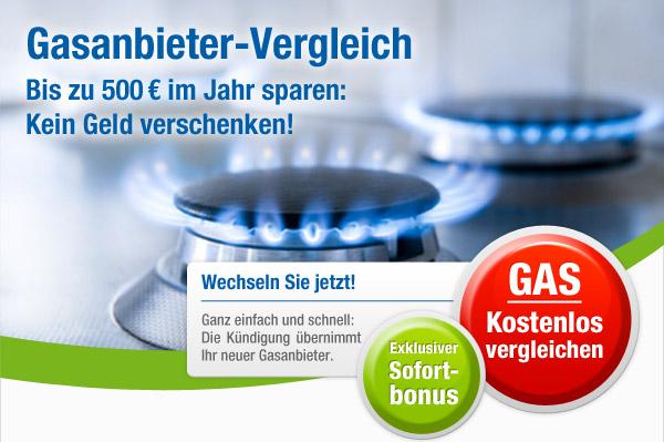 Gasanbieter kostenlos vergleichen