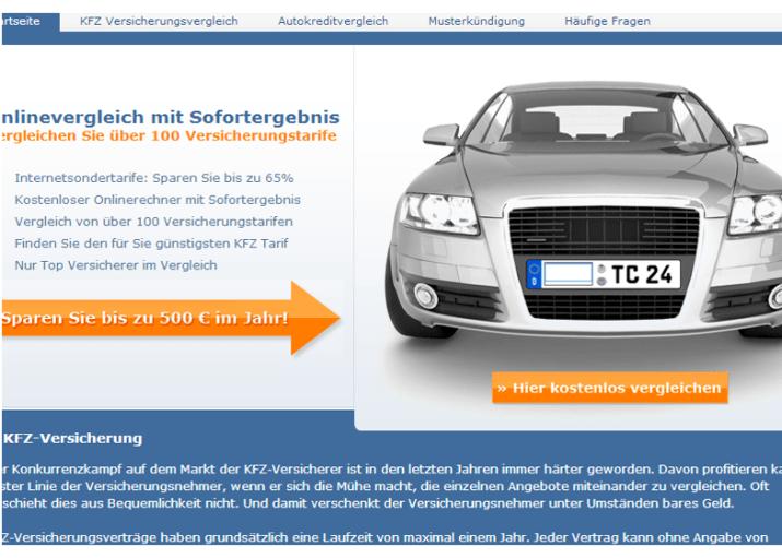 KFZ-Versicherung Tarifvergleich