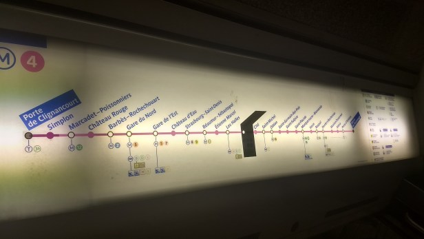Mapa dentro do vagão.