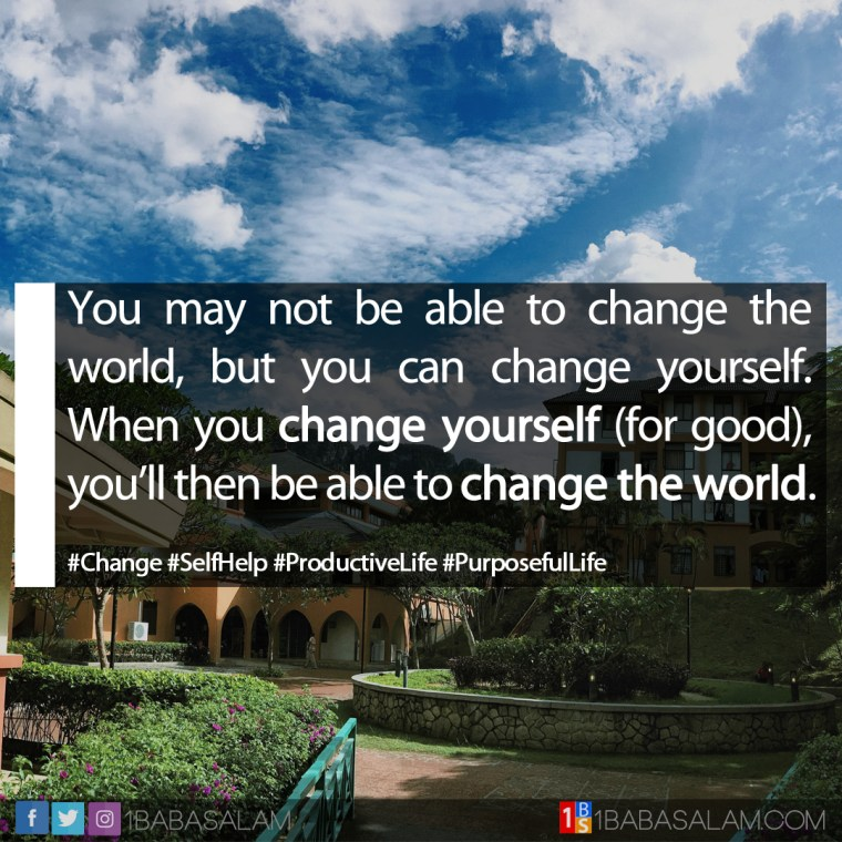 Change Should Start from Within