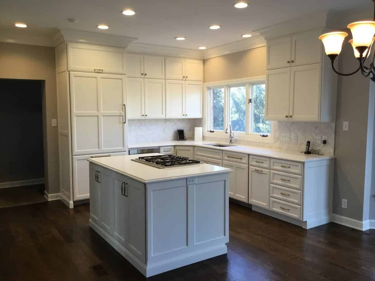 Stark White Kitchen Remodel Before After Callier And