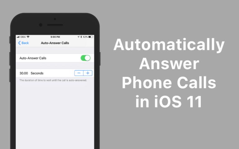 Как автоматически отвечать на телефонные звонки на вашем iPhone в iOS 11