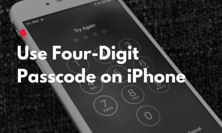Как перейти на четырехзначный пароль на iPhone или iPad